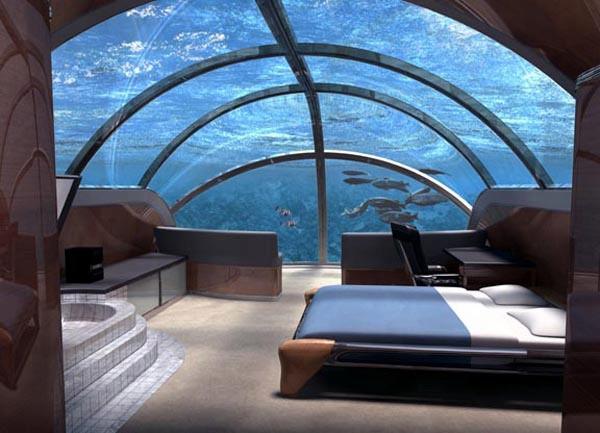 3- A Suíte Nautilus – Poseidon Undersea Resort (Ilha Misteriosa de Poseidon, Fiji)