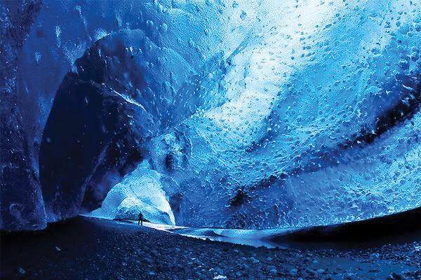 Caverna de Vatnajokull, Islândia