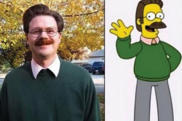 Esse senhor com Ned Flanders