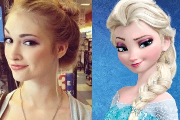 Essa moça com Elsa, A Rainha do Gelo