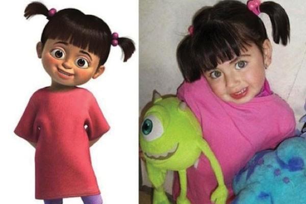 Essa menina com Boo de Monstros S.A.