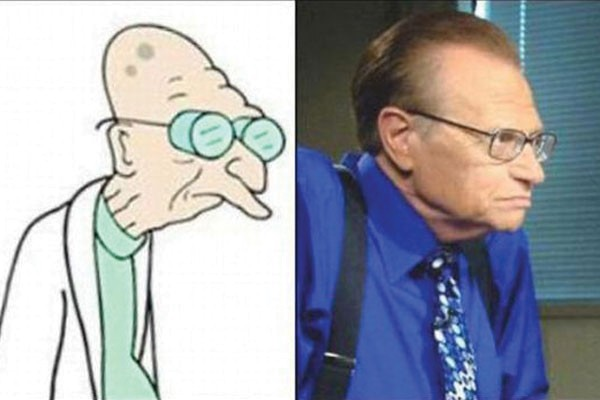 Larry King com o professor Farnsworth