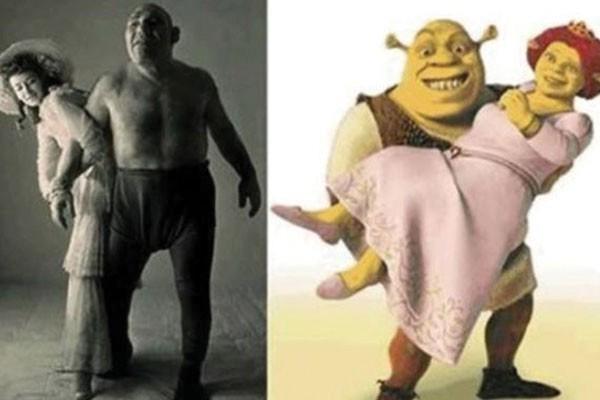 Esse casal com Shrek e Fiona