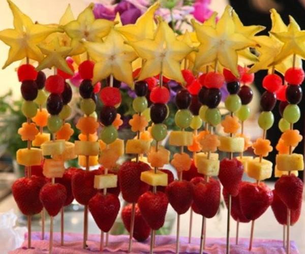Espeto de frutas