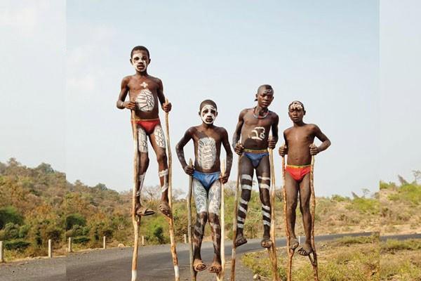 Crianças de uma tribo