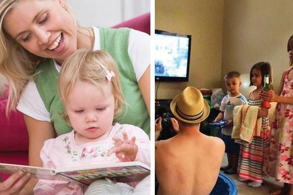 Cuidando dos filhos