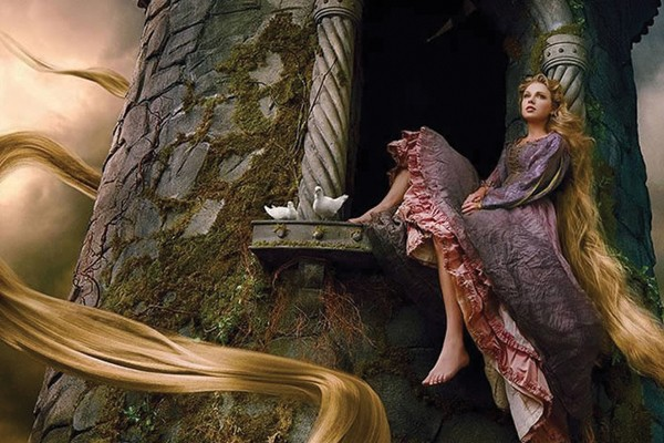 Taylor Swift como Rapunzel