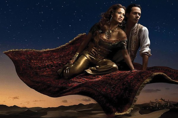Jennifer Lopez e Marc Antony de Aladdin