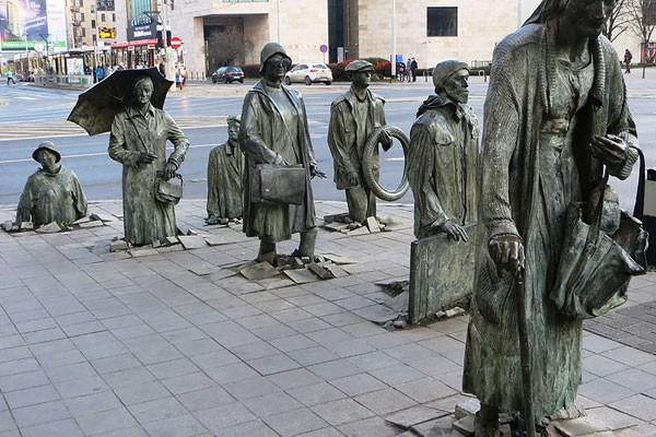 Escultura de um pedestre