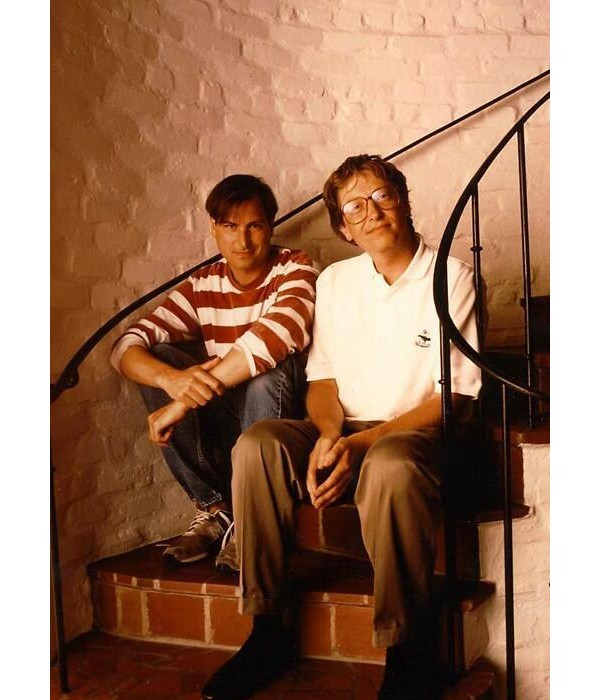 1991 Steve Jobs e Bill Gates