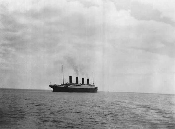 1912 Última fotografia do Titanic antes do naufrágio