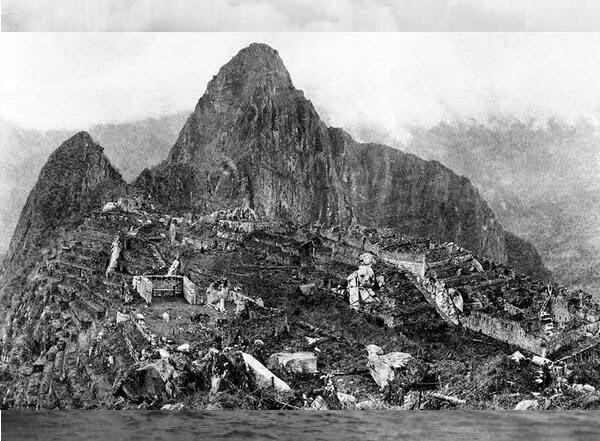 1911 Primeira imagem após a descoberta de Machu Picchu