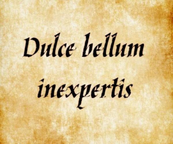 Dulce bellum inexpertis