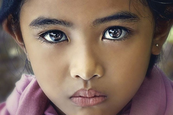 A beleza de uma menina