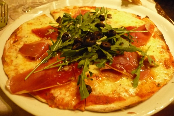 Pizza de rolinho primavera