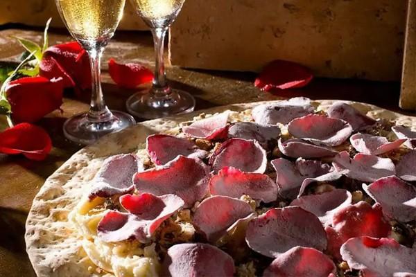 Pizza de rosas