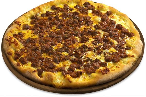 Pizza de coração de frango