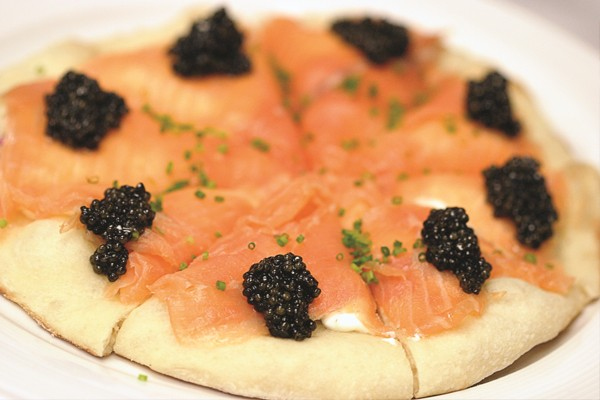Pizza de caviar
