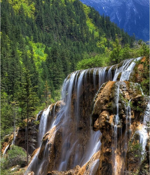 Pearl Shoal Waterfall, Sichuan na China