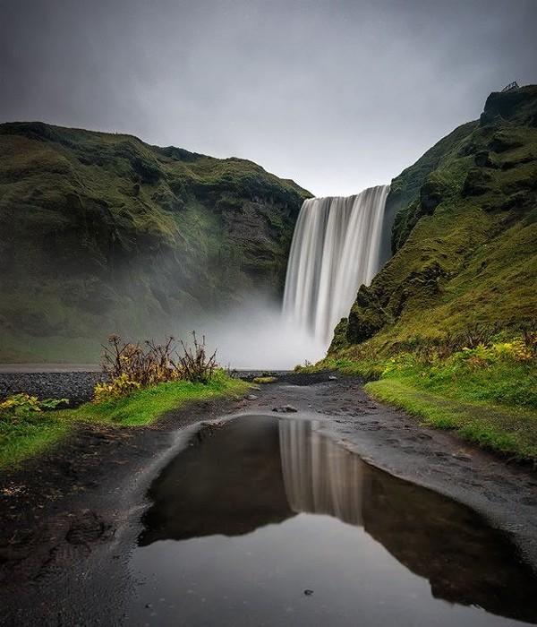 Cachoeira Skogafoss, Islândia