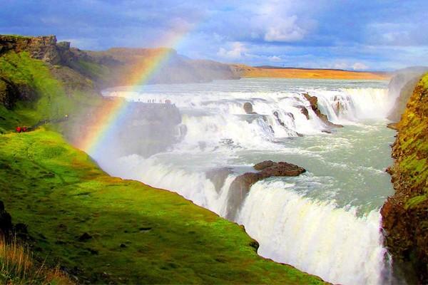 Gullfoss, Hvítá River na Islândia