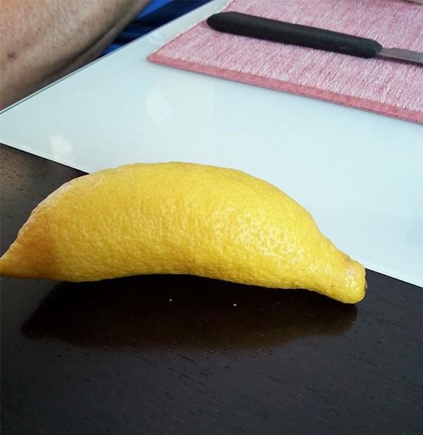 Limão que parece uma banana
