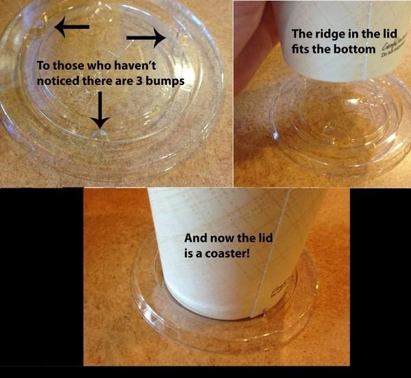 Tampas de refrigerante podem funcionar como porta-copos.