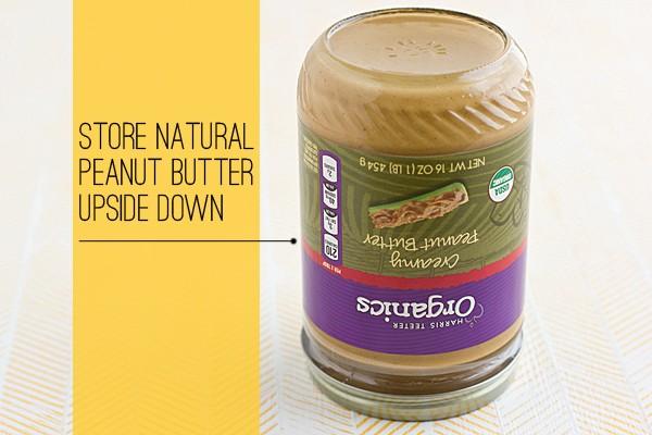 Você tem conservado pasta de amendoim da maneira errada.