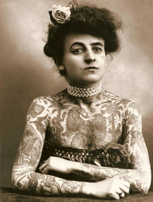Maud Wagner, a primeira tatuadora dos Estados Unidos – 1907