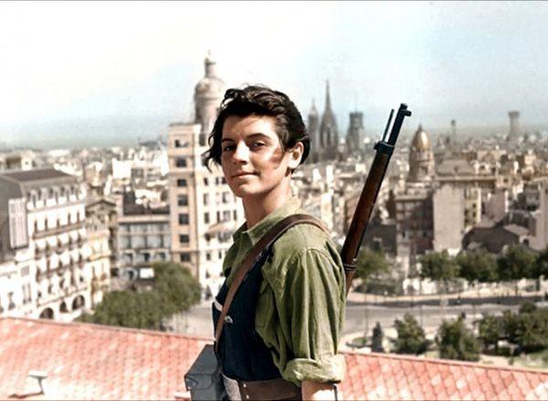 Marina Ginesta, militante comunista e participante da Guerra Civil Espanhola – 1936