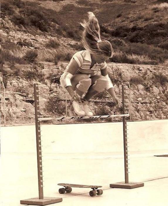 Ellen O'Neal, uma das primeiras skatistas profissionais – 1976