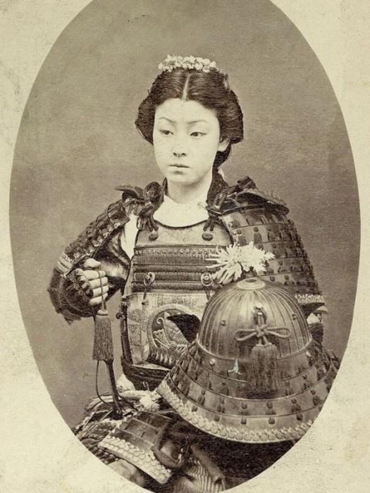 Samurai mulher – últimas décadas de 1800