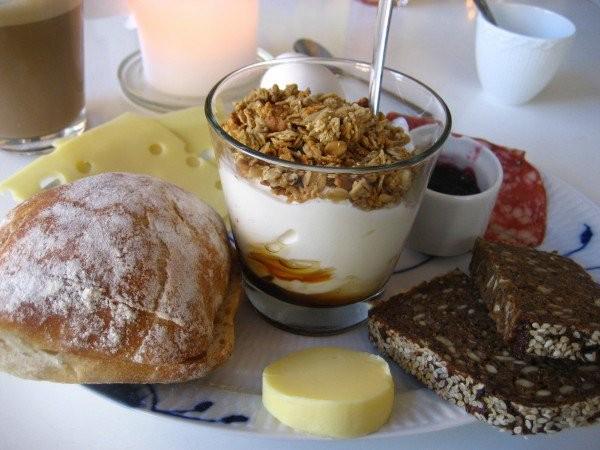 Café da manhã na Dinamarca