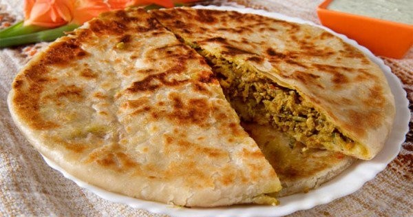 Café da manhã no Paquistão – Aloo Paratha