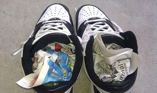 18. Sapatos molhados