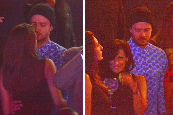 Justin Timberlake com uma garota desconhecida