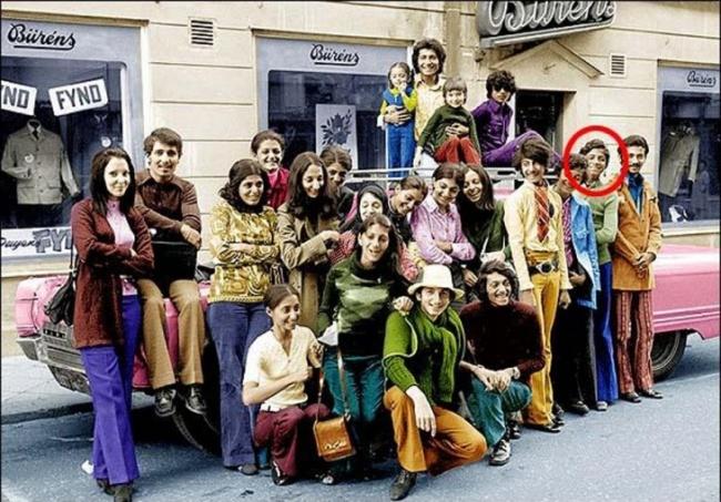 Osama Bin Laden e sua família tirando férias
