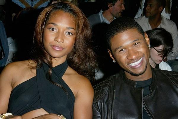 Usher e uma garota desconhecida