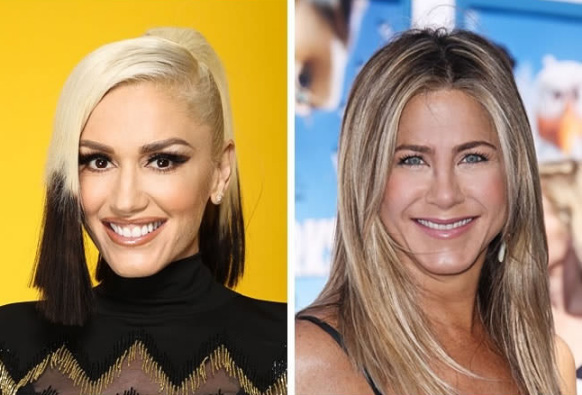 Gwen Stefani e Jennifer Aniston - 47 anos