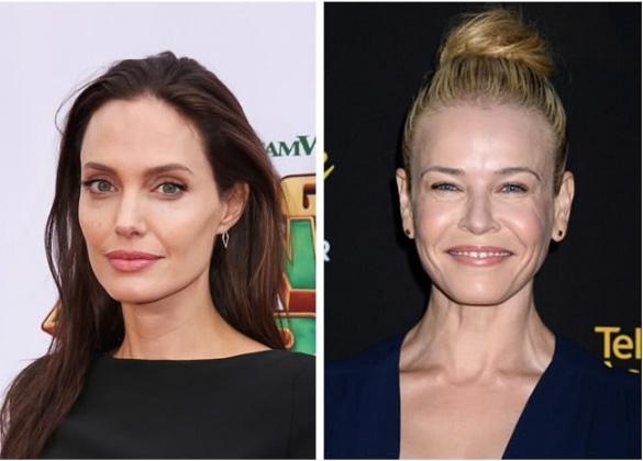 Angelina Jolie e Chelsea Handler - 41 anos