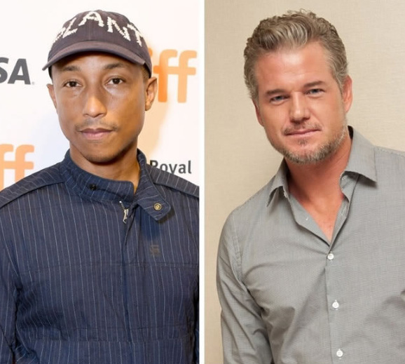 Pharrell Williams e Eric Dane - 43 anos