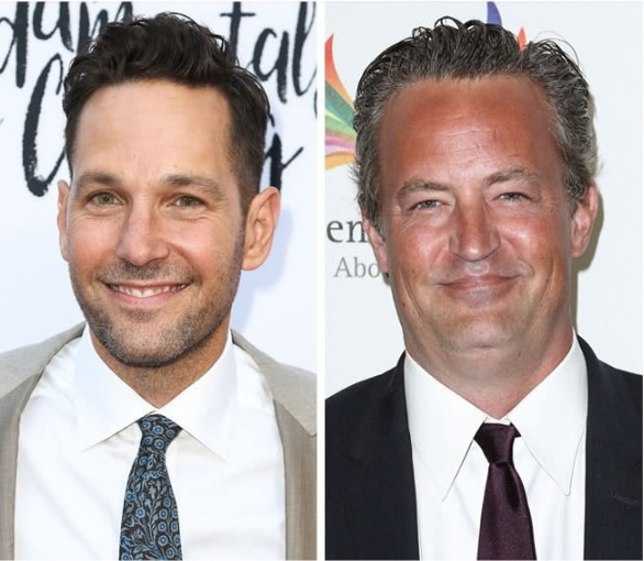 Paul Rudd e Matthew Perry - 47 anos