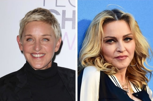 Ellen DeGeneres e Madonna - 58 anos
