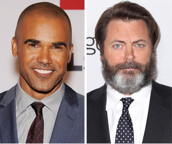 Shemar Moore e Nick Offerman - 46 anos