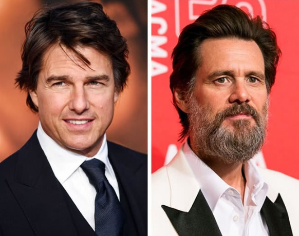 Tom Cruise e Jim Carrey - 54 anos