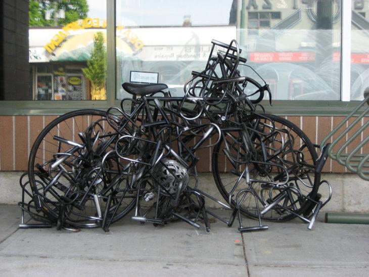 Ninguém vai levar a minha bicicleta!