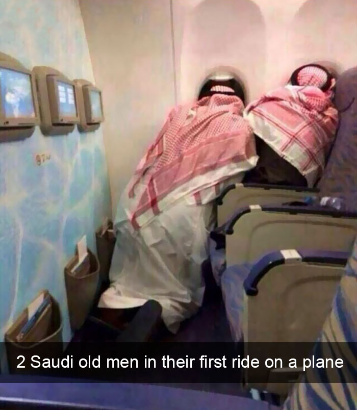 Sua primeira vez em um avião