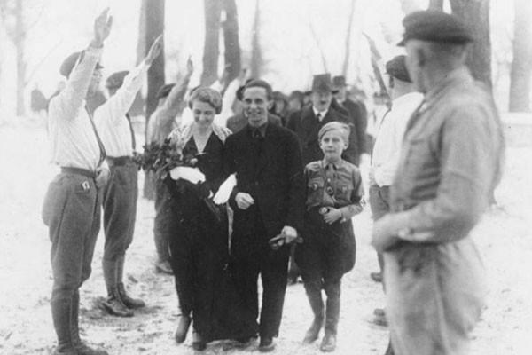 Hitler no casamento de Goebbels