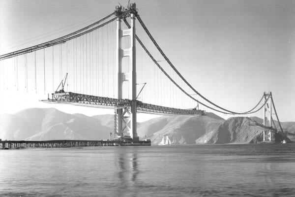 A construção da ponte Golden Gate