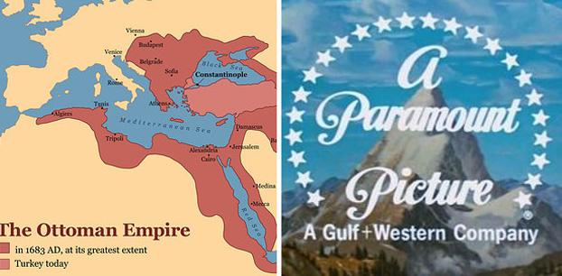 O Império Otomano ainda existia quando Paramount Studios foi fundado